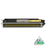 Re-manufactured Hewlett-Packard CE312A (HP 126A) Yellow Toner Cartridge