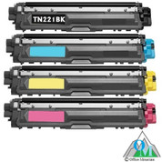 Compatible Brother TN-221 Toner Cartridge Set