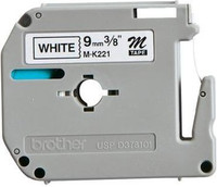 Brother M-K221 9mm Black on White Label Tape