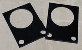 Floor scale foot locator plates