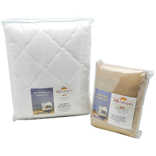 short queen sheet set and mattress pad image 1 - Short Queen Mattress