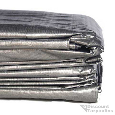 tarp heavy duty silver black