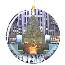 Rockefeller Center Christmas Ornament, Porcelain Christmas Tree Ornaments