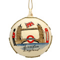 London Christmas Ornament - Glass Ball