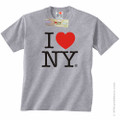 Gray I Love NY T-Shirt from New York City souvenir Store