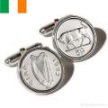 Sterling Silver Irish Coin Cufflinks