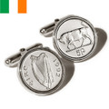 Sterling Silver Irish Coin Cufflinks