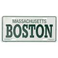 Boston License Plate