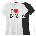 Fitted I Love NY Tees White