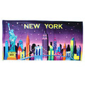 New York City Skyline Beach Towel