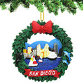 San Diego Wreath Ornament