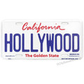 Hollywood California license plate souvenir from The Golden State