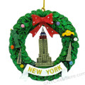New York Empire Wreath Christmas Ornament