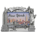 Silver NY Skyline Photo Frame