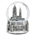 Musical Silver New York City Skyline Snow Globe