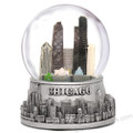 Chicago Snow Globe Skyline with snow flakes