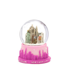 Pink NYC Skyline Snow Globe