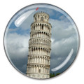 Leaning Tower of Pisa Crystal Italian Paperweight