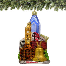 Philadelphia Christmas Ornaments Glass