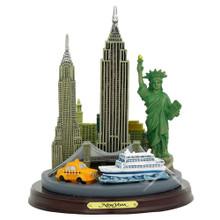 New York City skyline 3D models and statue. New York souvenir