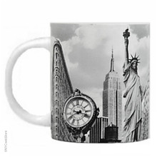 Black and White New York City Landmark Photo Mugs