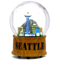 Skyline Musical Seattle Snow Globes, Seattle Snow Globes for Souvenirs