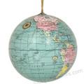 World Globe Ornament - Blue