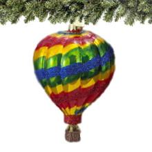 glass hot air balloon christmas ornament from kurt adler noble gems
