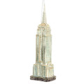 Glass Empire State Building Ornament - Silver