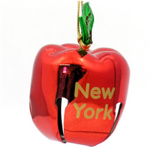 New York City Christmas Ornament, Apple Bell