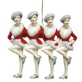 Rockettes Kickline Ornament