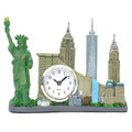 Replica Skyline New York City Landmarks Clock