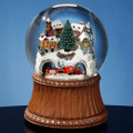 Train and Mountain Village 120mm Snow Globe