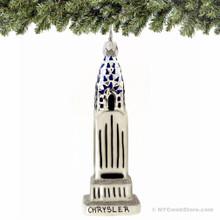 Chrysler Building Glass Ornament