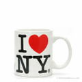 White Classic I Love NY Mini Mug