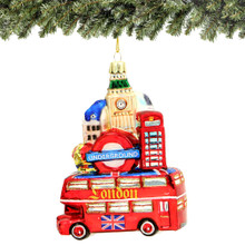 London Bus Christmas Ornament