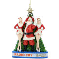 rockettes and santa ornament