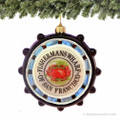 Fisherman's Wharf Glass Ornament