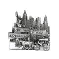 Silver Central Park Magnet