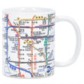 White New York City Subway Lines Mug, 11oz coffee mug