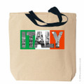 Italy Canvas Tote Bag, Italian Canvas Bags