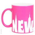 Hot Pink New York Mugs