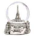 Silver Paris Snow Globes
