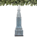 Noble Gems Chrysler Building Glass Ornament