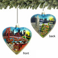 San Francisco Glass Heart Ornament