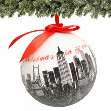 "4"" NYC Skyline Ball Ornament"
