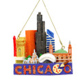 Chicago Landmarks Christmas Ornament