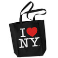 I Love NY Tote Black Canvas