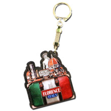 Florence Keychain 3D Wooden