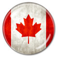Canadian Flag Crystal Paperweight
